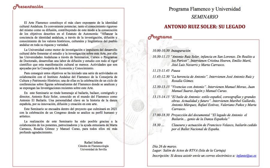 Programa Honores a Antonio El Bailarín 2